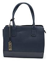 Классическая женская сумочка средних размеров Б/Н art. 2049 синего цвета , фото 1