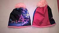 Детская зимняя шапка с 3D картинкой  для девочки
