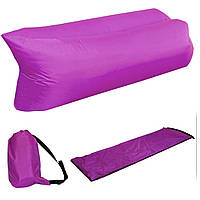 Надувной шезлонг Ламзак кресло, матрас Lamzac Hangout фиолетовый