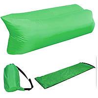 Надувной шезлонг Ламзак кресло, матрас Lamzac Hangout зеленый