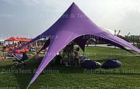 Тент, шатер Звезда, 10 метровая, Цвет Фиолетово-сиреневый. Тент для мероприятий и банкетов, отдыха., фото 1