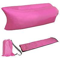 Надувной шезлонг Ламзак кресло, матрас Lamzac Hangout розовый