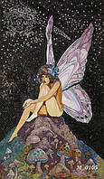 Мозаика девушка-бабочка