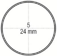 Зеркало стоматологическое родиевое плоское № 5 не увеличивающее диаметр 24 мм, Medesy 4903/5RO