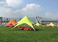 Тент, шатер Звезда, 10 метровая, Цвет Зелёный. Шатер для свадеб, мероприятий, банкетов, отдыха, фото 1