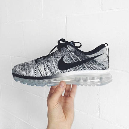 "Кроссовки Nike Air Max Flyknit 2015 ""Black/White/Oreo"", фото 2"