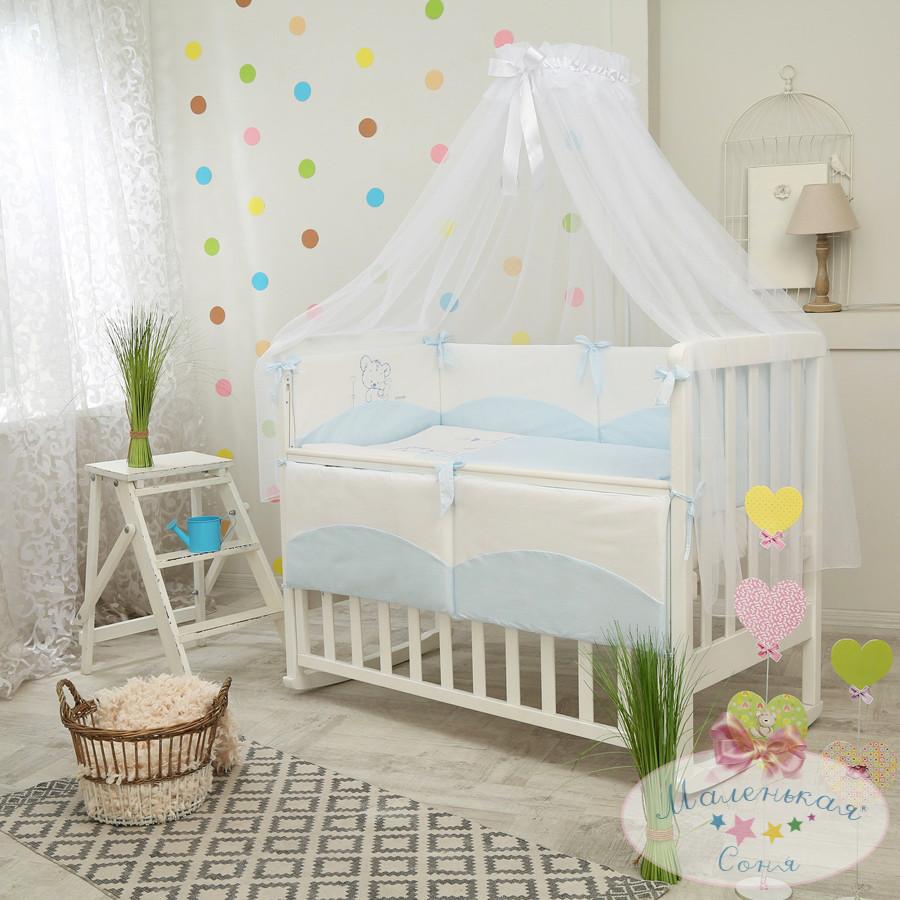 Детский постельный комплект Tutti (Голубой, 7 элементов), Маленькая Соня