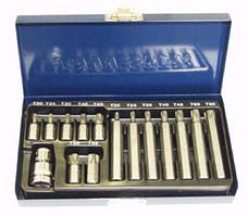 S29H4215S Набор вставок (бит) Торкс (30 и 75 мм), Т20-Т55, 15 предметов