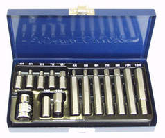 S29H4115S Набор вставок (бит) шестигранных (30 и 75 мм) 4-12 мм, 15 предметов
