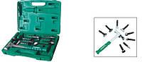AG010142 Многофункциональный молоток со сменными головками для жестяных работ, 9 насадок