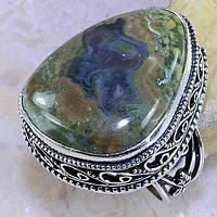 """Шикарное кольцо с императорской яшмой """"Лесное озеро"""", размер 18,5 от Студии  www.LadyStyle.Biz"""