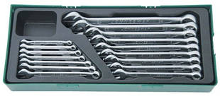 W26116SP Набор комбинированных ключей 6-24 мм, 16 предметов