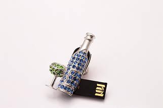 """Флешка Ювелирная """"Бутылка Мартини""""  4 GB , фото 3"""