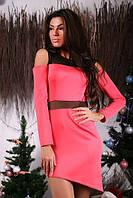 Платье женское юбка асимметрия  Р23