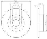 1032192 = C3R005ABE Тормозной диск KAMOKA