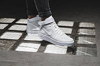 """Кроссовки Nike Air Force 1 Flyknit """"White Pure Platinum""""."""