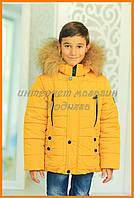 Зимняя куртка мальчикам   куртка для мальчиков Ден, горчичная