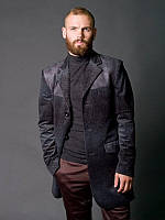 Френч мужской серый