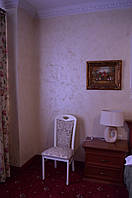 """Выполненная работа по нанесению декоративного покрытия Miora от Greendeco. Отель """"Франция"""" г. Винница"""