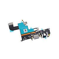 Шлейф для iPhone 6. с разъмом зарядки. коннектором наушников и микрофоном. белый