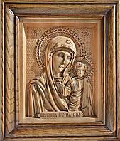 Икона деревянная резная именная Божьей Матери