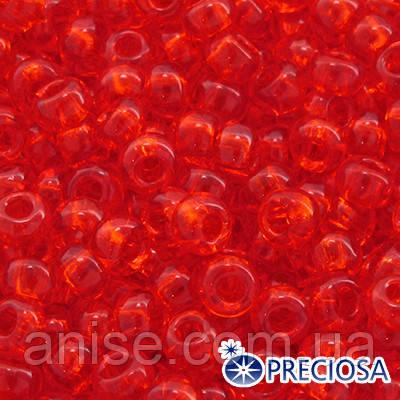 Бисер Preciosa 10/0 цв. 90030, Прозрачный NT, Красный, Круглый, (УТ0002462)