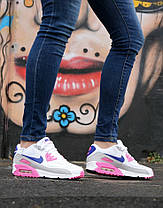 "Кроссовки Nike Air Max 90 WMNS ""White/Rose/Purple""., фото 3"