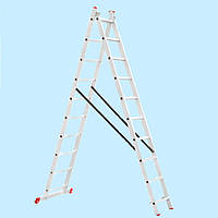 Лестница универсальная двухсекционная INTERTOOL LT-0210 (4.81 м)
