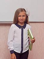 Ш01 - Блуза школьная с длинным рукавом для девочки