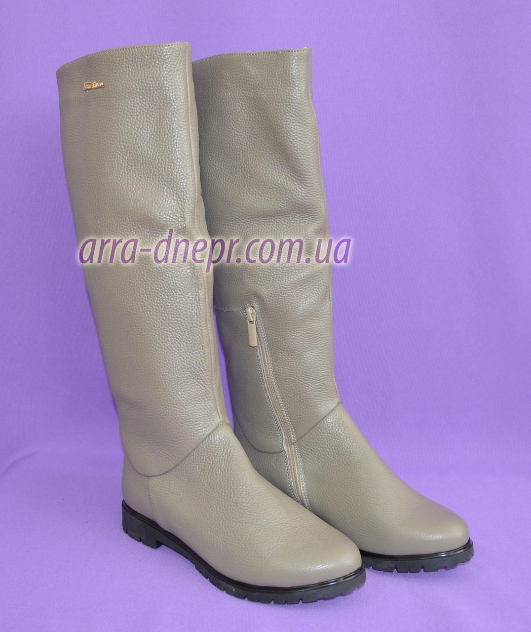 ef27a87b2 Сапоги-трубы женские кожаные демисезонные цвета мокко: продажа, цена ...