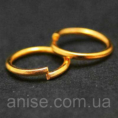 Колечки Одинарные, Железные, Цвет: Золото, Размер: 5мм, Толщина 0.7мм, 50г/около 1150шт, (БА000000784)