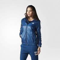 Ветровка женская с капюшоном adidas Trefoil AY6652