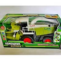 Детская игрушка комбайн M 0343 U/R Помощник фермера: двигающаяся жатка, коробка 38х18,5х15,5 см