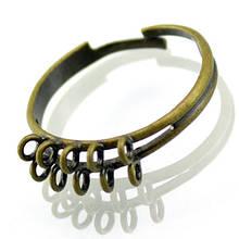 Основа для кольца Латунь, с 10 Петельками, Цвет: Бронза, Размер: Диаметр 19мм, Внутри 17мм, (БА000001047)