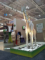 Картонная декорация в форме животных