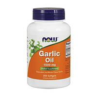 Чесночное масло, Garlic Oil, Now Food, 1500 мг, 250 гелевых капсул