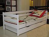 """Односпальне ліжко """"Нота"""" з бука (щит, масив), фото 2"""