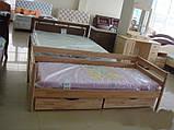 """Односпальне ліжко """"Нота"""" з бука (щит, масив), фото 3"""