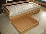 """Односпальне ліжко """"Нота"""" з бука (щит, масив), фото 4"""