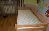 """Односпальне ліжко """"Нота"""" з бука (щит, масив), фото 5"""