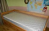 """Односпальне ліжко """"Нота"""" з бука (щит, масив), фото 6"""