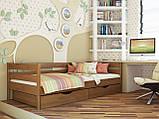 """Односпальне ліжко """"Нота"""" з бука (щит, масив), фото 8"""