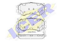 Тормозные колодки передние Hyundai Tucson 2004-->2010 Icer (Испания) 181644