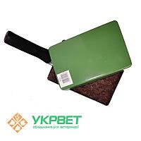 Металлический лоток с ручкой для штемпельной подушки