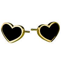 Женские серьги сердца New Collection
