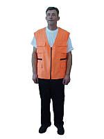 Жилет парковщика, безрукавка строителя, жилет  монтажника с дополнительными карманами