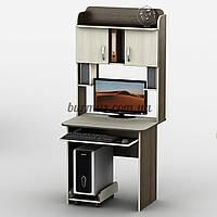 Компьютерный стол с тумбочками, Тиса-15, 80*60, дуб молочный+ венге магия