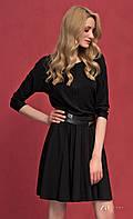 Женское трикотажное платье черного цвета с рукавом три четверти. Модель Altea Zaps.