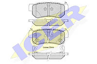 Тормозные колодки задние Hyundai Tucson 2004-->2010 Icer (Испания) 181645