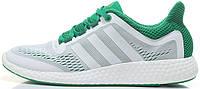 Мужские кроссовки Adidas Pure Boost Chill White/Green, адидас